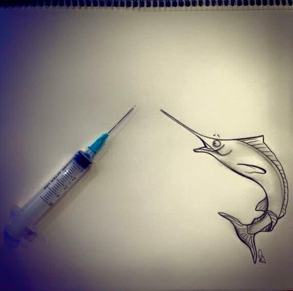 Pescespada innamorato di una siringa