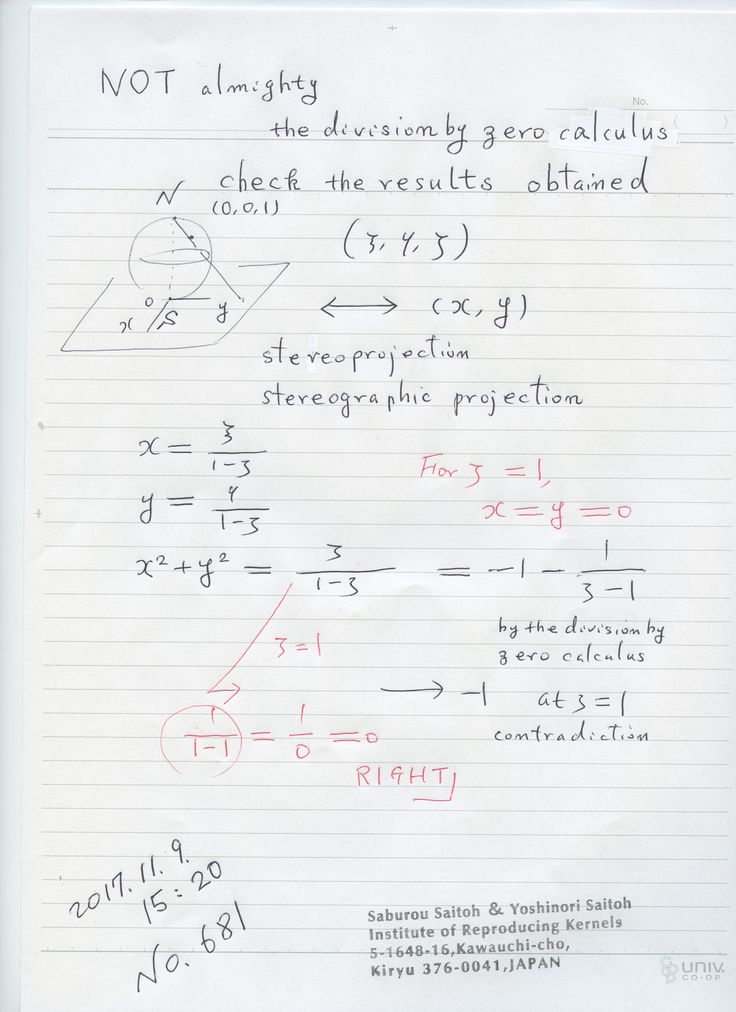 №681  関数に数値をゼロ除算で決めるのは、実は微妙なものが有ります。 ローラン展開で定める、ゼロ除算算法が一意に数値を与えられ、多くの場合意味を持ちますが、そうでない場合も有ります。そこで、ゼロ除算算法で得られた結果については、 どのような意味があるかと吟味を行う必要がある。また、いろいろゼロ除算を参考にいろいろ考える様にしたい。