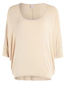 T-shirt med tryck - beige
