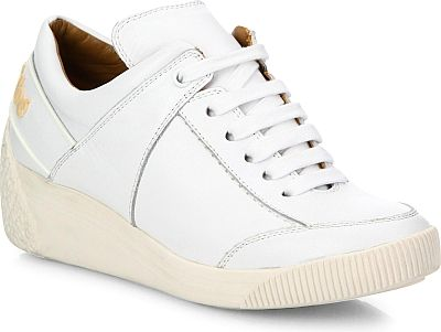 See by Chloe Shoes - Clean lined leather sneaker updated with wedge sole.  Rubber wedge