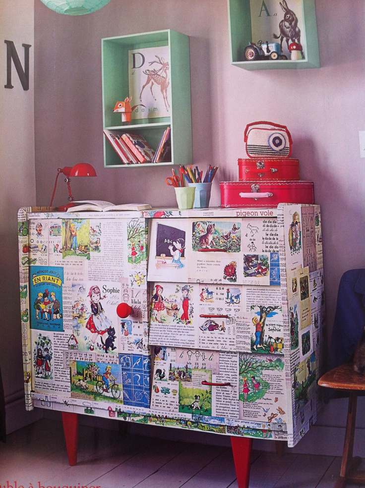 45 best decoupage furniture images on pinterest for Cadlow mural world