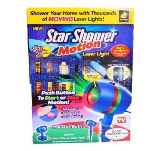 Star Shower Indoor/Outdoor Laser Light Star Projector As Seen On TV Blue Plastic #Bulbhead