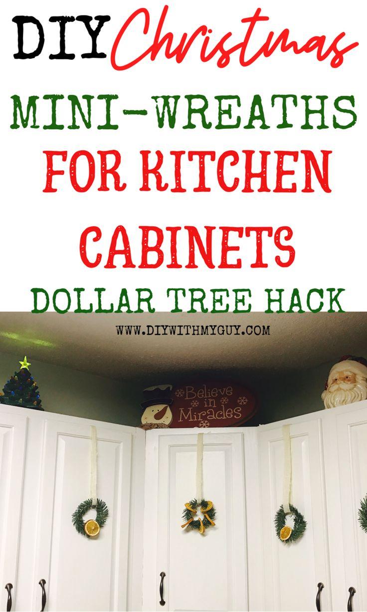 DIY Mini Wreaths for Kitchen Cabinets | Diy kitchen cabinets, Diy, Diy cabinets