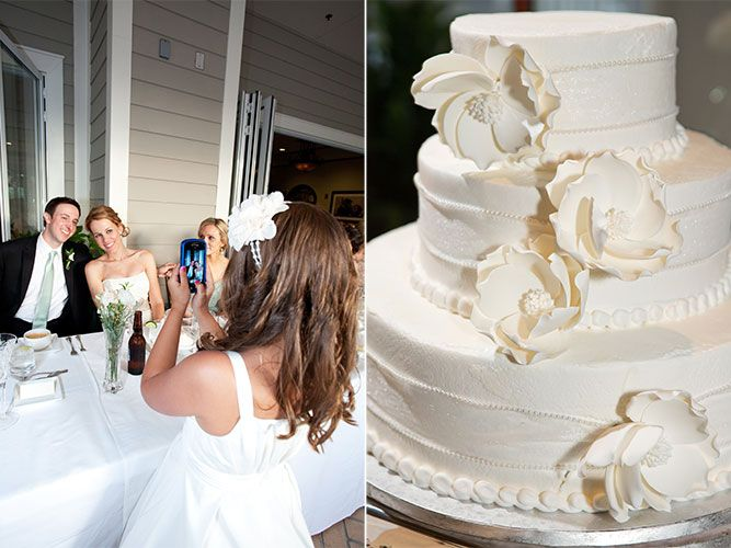 Another beautiful wedding cake by Publix - great way to rein in your wedding budget!