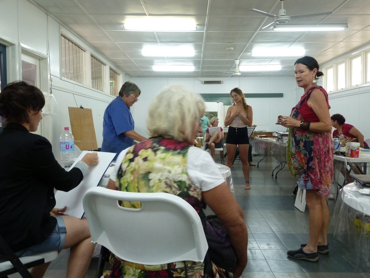 Figurative drawing with a live model