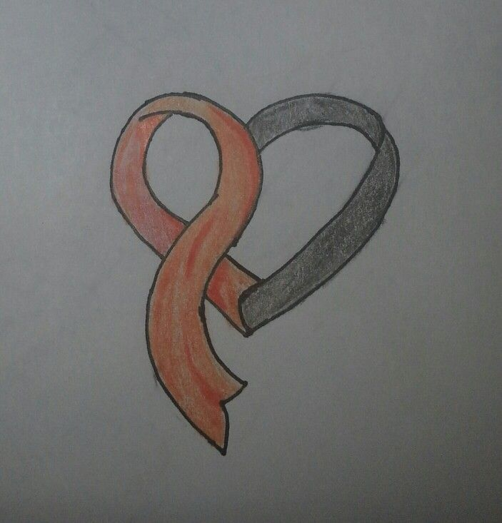 Tattoo For Self Harm Would So Get This On My Right Thigh: Awareness Ribbon Heart In The Color Orange For Self Harm