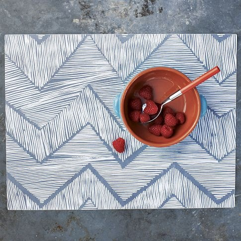 Zigzag plastic placemats from West Elm: Outdoor Placemats, Apartment Essentials, Plastic Placemats, Cross Stitch, Placemats Shopcoffeetable, Zigzag Placemats, Apartment Pinspiration, Designer S Nest