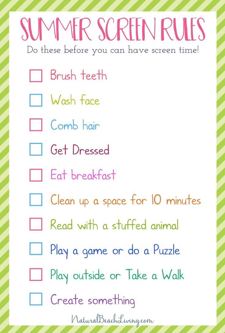 the perfect summer rules for kids
