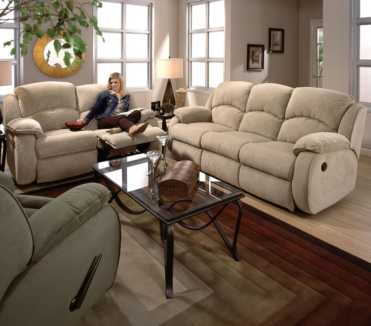 Cagney Double Reclining Sofa With Pillow Arms By Southern Motion. Available  At Turk Furniture.