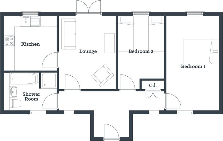 17 Best ideas about Two Bedroom House  on Pinterest Small