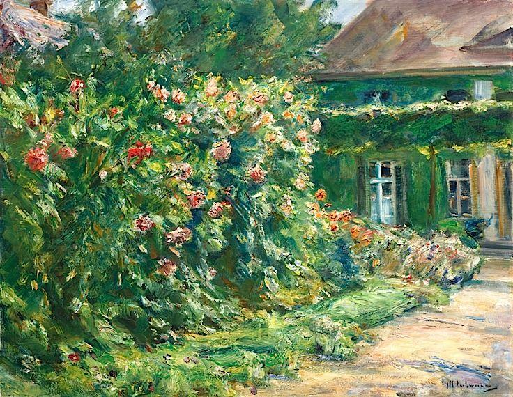 Max Liebermann 1847 - 1935 Mein Haus In Wannsee, Mit Garten