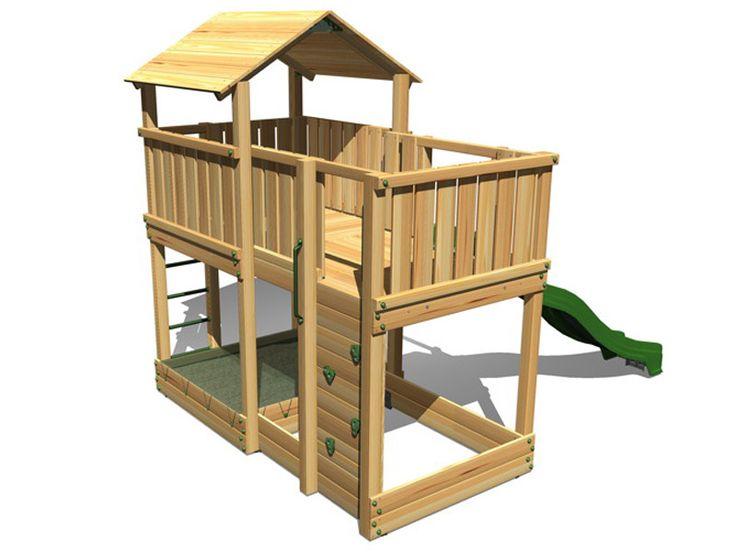 Spielturm HY LAND «Wartburg» Kletterturm mit Rutsche DIN EN 1176   Kaufen im Holz-Haus.de Online-Shop