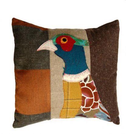 Patchwork Pheasant Cushion http://www.burford.co.uk/patchwork-pheasant-cushion.html