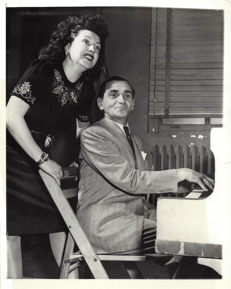 "Ethel Merman ""ANNIE GET YOUR GUN"" Irving Berlin in Rehearsal 1946 Press Photo 