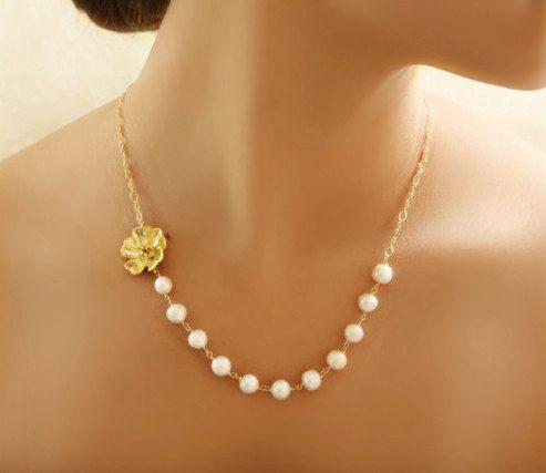 De Dama de honor regalo delicado oro o por VirginiaGeigerJewels