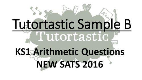 KS1 SATS 2016 Arithmetic Sample B PowerPoint - Whole class SATS revision