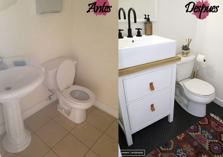 Cambio de lavabo y cisterna suelo vinilico y decoraci n y for Suelo vinilico ikea