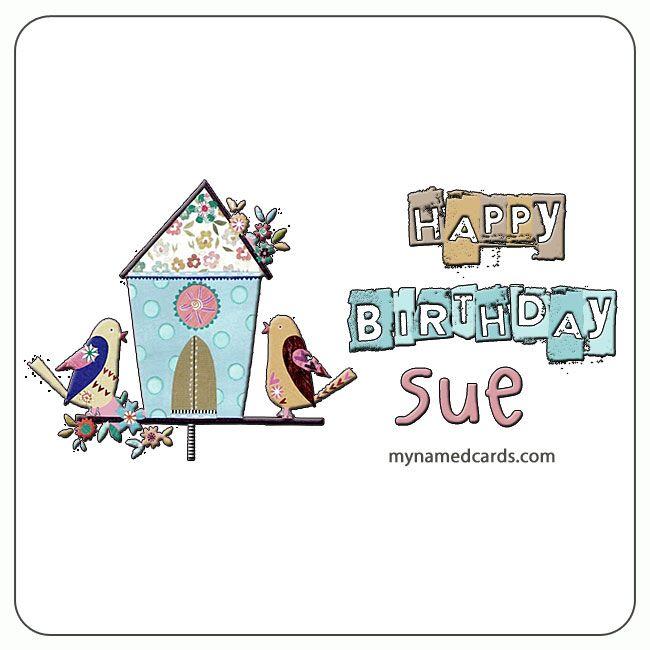 Happy Birthday Sue Card For Facebook Namedcards Com Sue