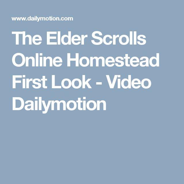 The Elder Scrolls Online Homestead First Look - Video Dailymotion