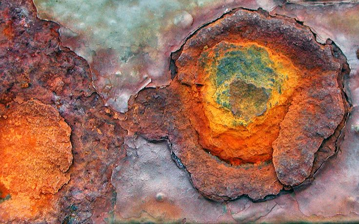 Beautiful rust -- looking for colors. (Found on a neat webpage about painting miniatures for RPGs.)