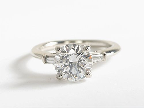 The stunning Tapered Baguette Diamond Engagement Ring in platinum from bluenile.com