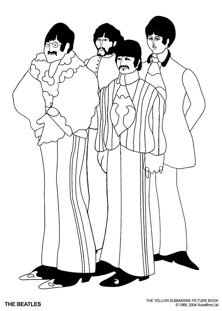 The Beatles Coloring Pages Google Search Coloring