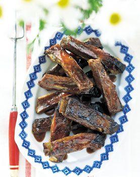 Grilled Spareribs with Cherry Cola Glaze | Food! | Pinterest | Glaze ...