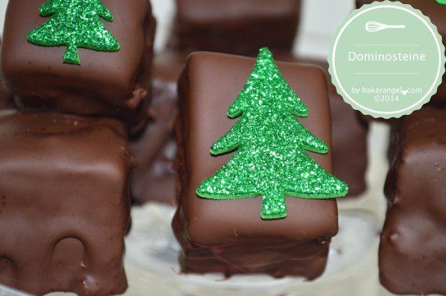 Dominosteine - triple layered gingerbread marzipan treats by bakerangel.com