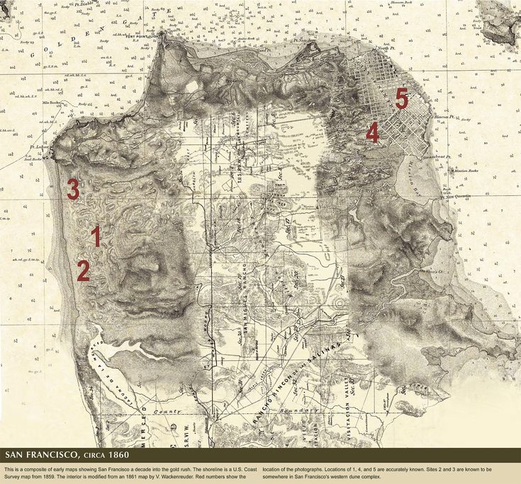 San Francisco circa 1860 19 best Mapping