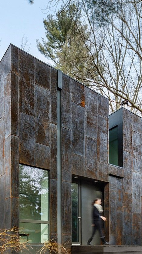 """Grow Box"", Weathering Steel Home, Massachusetts - Merge Architects                                                                                                                                                                                 More"