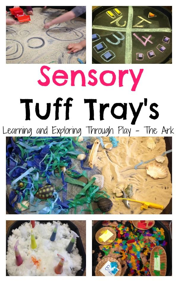Sensory Tuff Trays, Tuff Tray ideas, Tuff tray ideas for preschool. Sensory Bins. Learning and Exploring Through Play.
