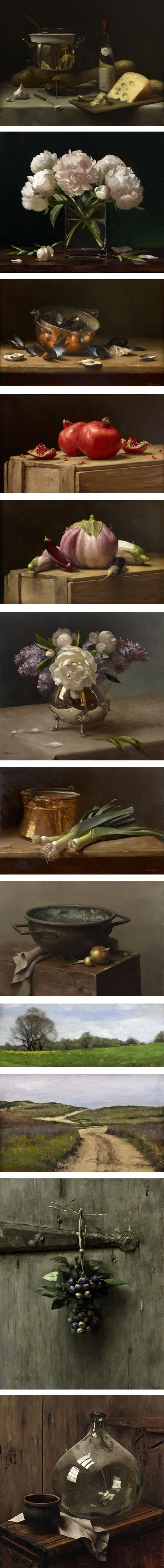 These still life compositions by Sarah Lamb are amazing.