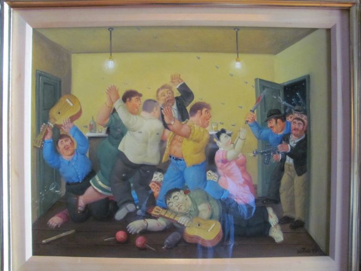 Painting of Botero