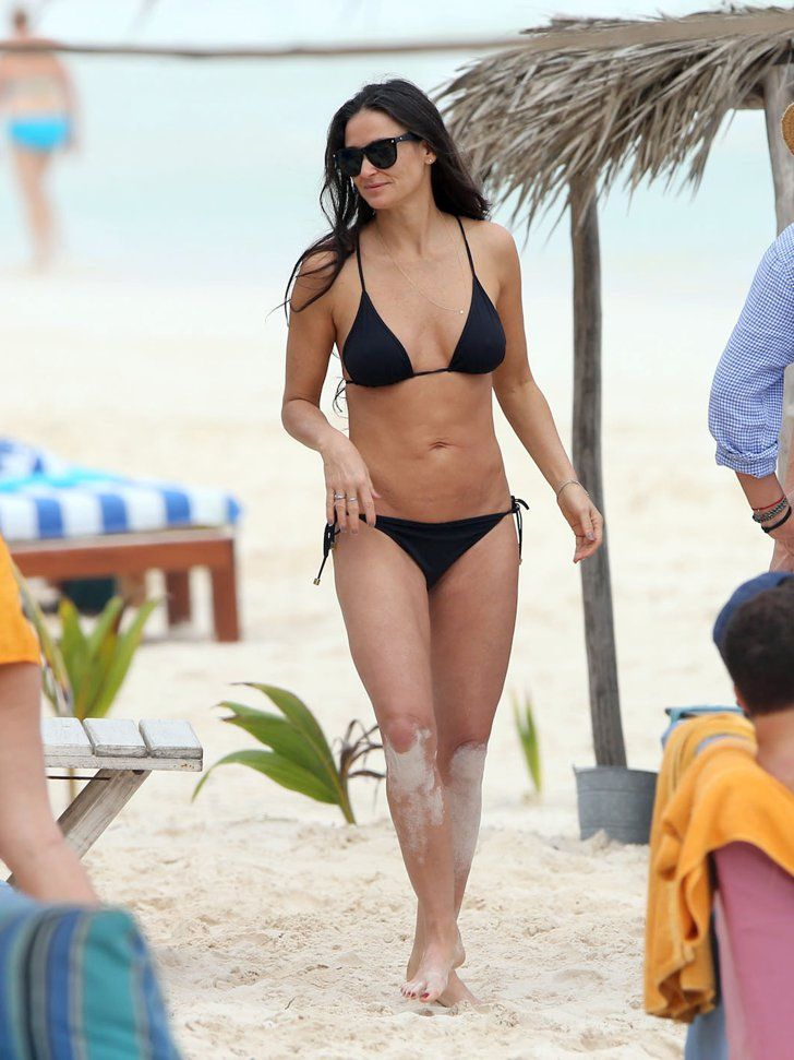Pin for Later: Age Is Just a Number! See Hot Stars Over 40 in Bikinis Demi Moore, 53