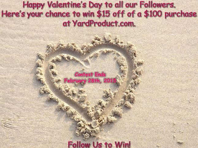 Follow us for a chance to #win $15 off a $100 purchase. #Contest ends February 28th, 2015! #promotion