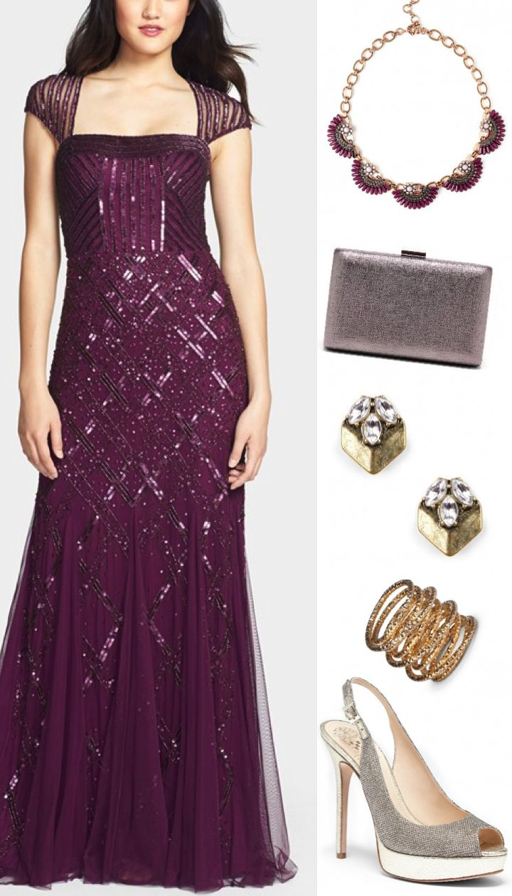 Plum and Metallics