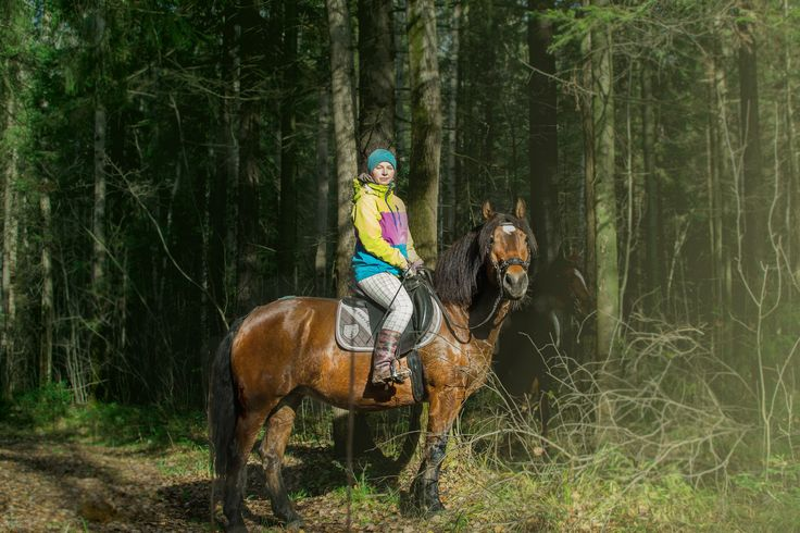 Riding in the forest is just amazing...