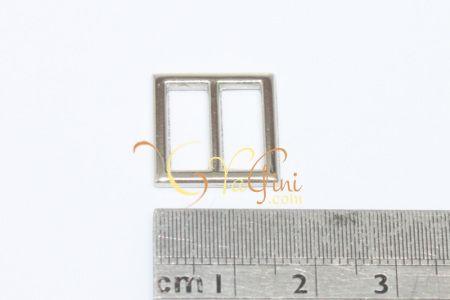 Gesper Kotak Tanpa Pengait 1,6cm - Silver - yagini.com - 085641416429 - (2) 3