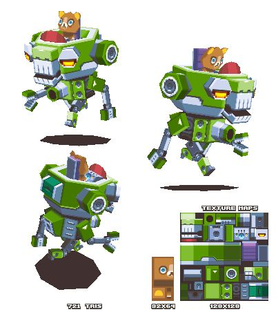 Lowpoly Bear Mech by KennethFejer.deviantart.com on @DeviantArt