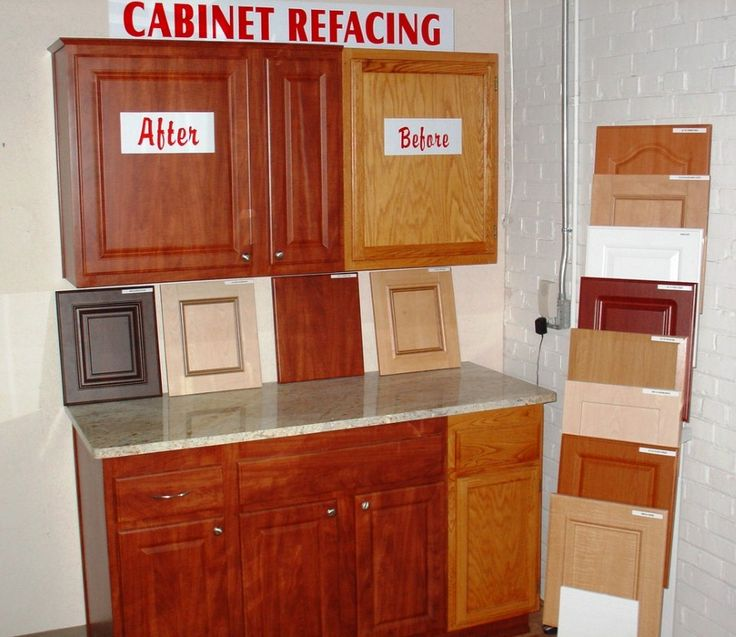 Cabinet refacing before after kitchen designs for Remodel kitchen without replacing cabinets