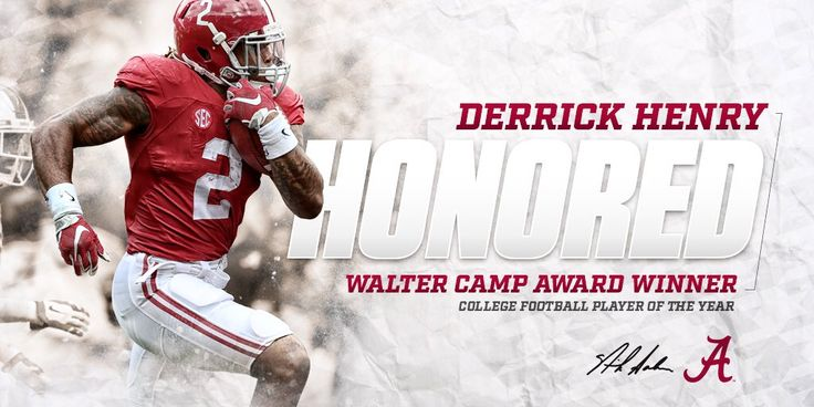 Derrick Henry - Alabama Crimson Tide - 2015 Walter Camp Award - College Football Player of the Year