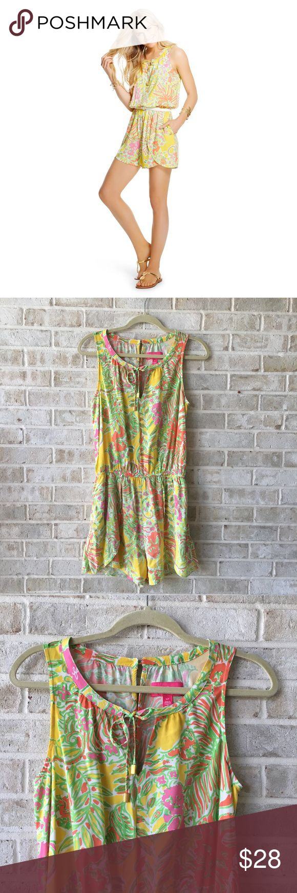 Lilly Pulitzer For Target Romper Challis Size S • Brand: lilly Pulitzer for target  • Size:S • Material: See picture of tag in photos • Previously owned, excellent used condition  • Length 32 Bust 19 • Other info: lilly Pulitzer for target  •Inventory id:821 Lilly Pulitzer for Target Pants Jumpsuits & Rompers