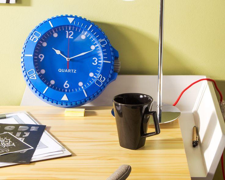 Relógio de Parede Colorix - Azul