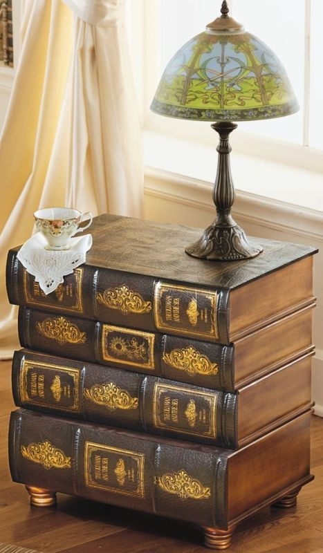 Attractive Hemingwayu0027s Library Book Side Table By Toscano.