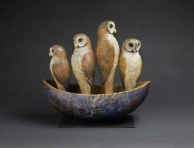 owl sculptures by Hib Sabin