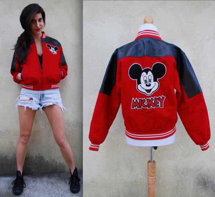 Vintage 80s 90s Reversible Mickey Mouse Red and Black ...