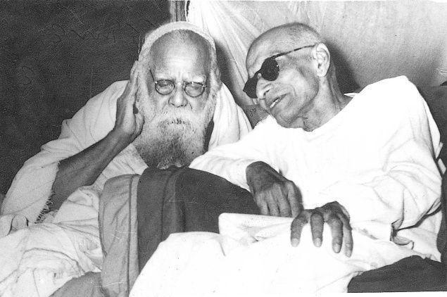 December 1953: Chief Minister of Madras State C. Rajagopalachari (right) with Dravidar Kazhagam leader, Periyar E.V. Ramasamy. Photo:THE HINDU ARCHIVES