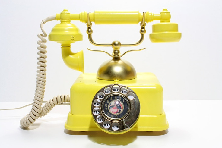 Dig this... would make answering the phone fun!!:) Refurished Vintage Victorian Rotary Phone