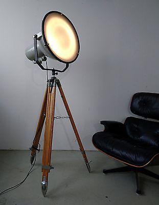 Tripod Steh Stativ Lampe Industrie Design EX Such Grenz Bühnen Scheinwerfer Loft