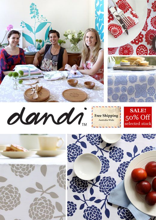 Dandi: Australian Botanical Fabric Prints + New Bamboo Tableware - Up to 50% Off Sale Items with FREE Delivery On All Orders*